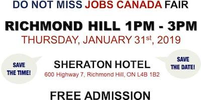 Richmond Hill Job Fair – January 31, 2019