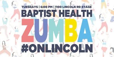 Baptist Health Zumba #onLincoln