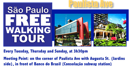SP Free Walking Tour - PAULISTA AVE tickets