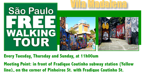 SP Free Walking Tour - VILA MADALENA (English) tickets