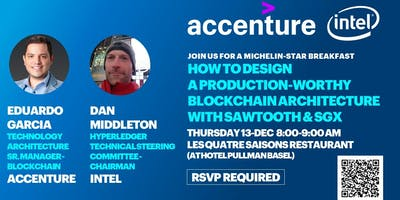 Blockchain Architecture Breakfast in Basel, hosted by Accenture and Intel