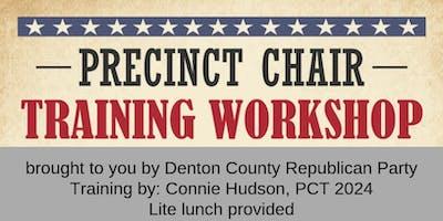 DCRP Precinct Chair Training Workshop
