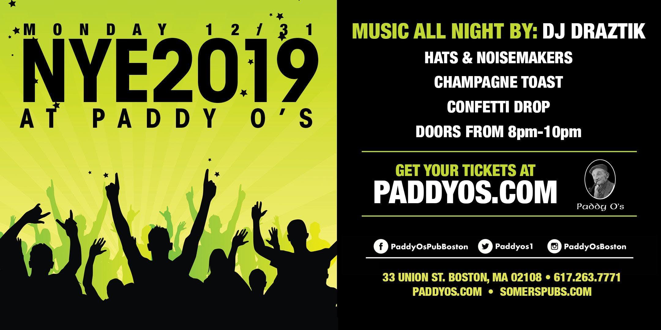 Paddy O's NYE 2019