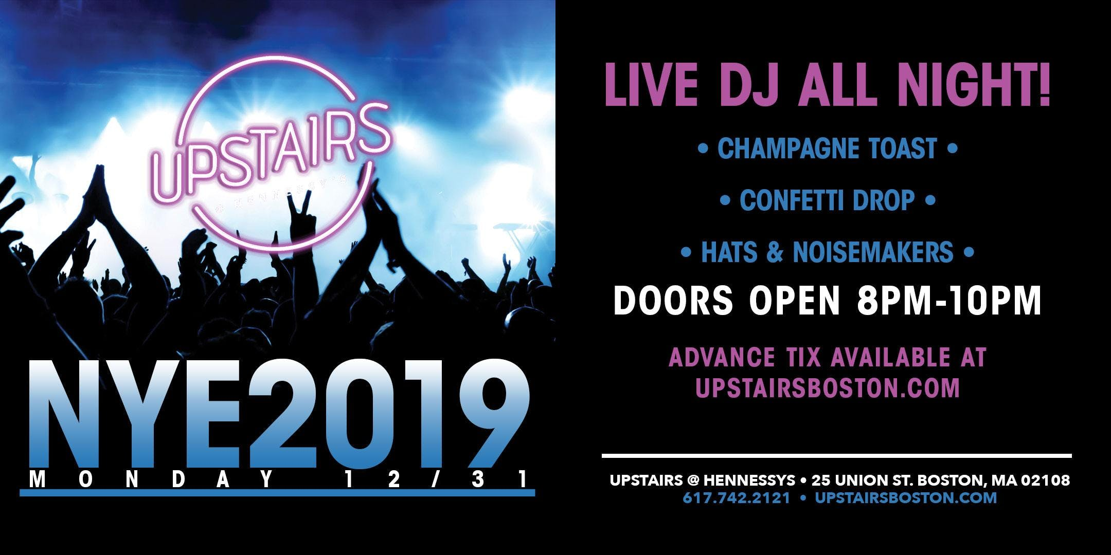 Upstairs @ Hennessy's NYE 2019