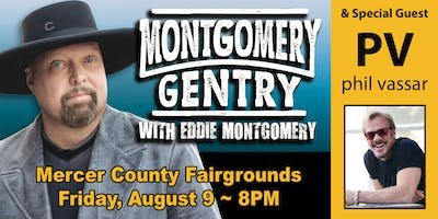 Montgomery Gentry and Phil Vassar at Mercer County Fair