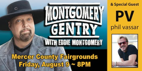Montgomery Gentry and		Phil Vassar at Mercer County  tickets