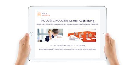 KODE® & KODE®A Kombi-Ausbildung, München, 17. - 19.07.2019 Tickets
