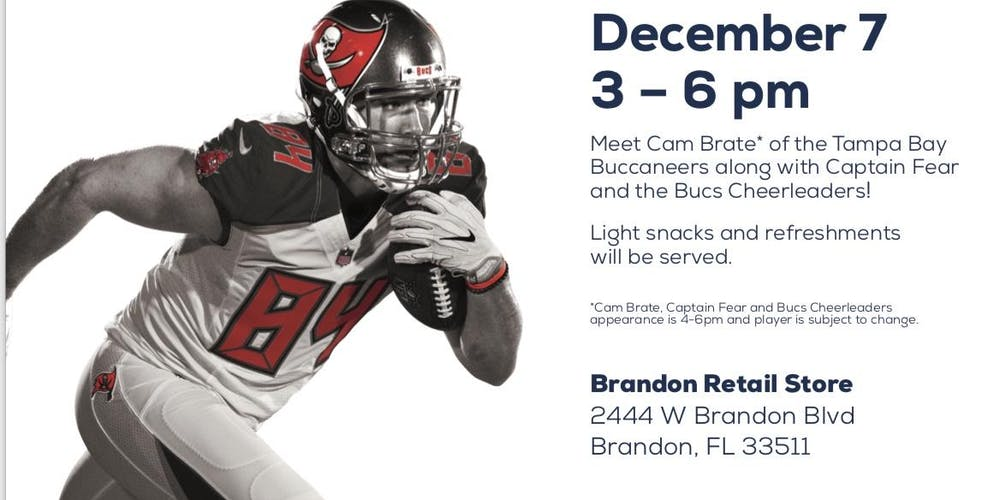 pretty nice 90719 cf552 Meet Cam Brate of the Tampa Bay Bucs Tickets, Sat, Dec 7 ...