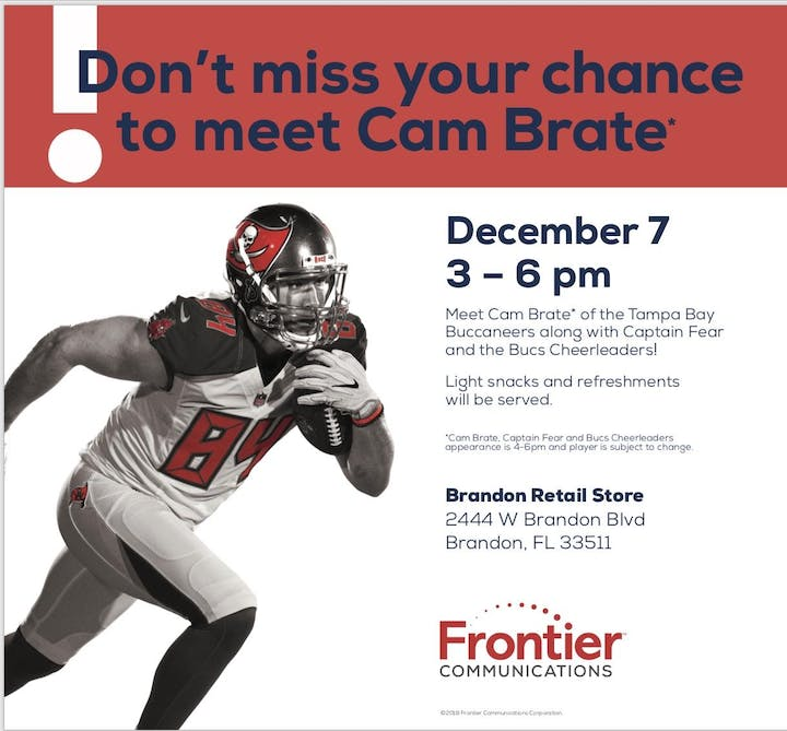 3fe1a00be8dad Meet Cam Brate of the Tampa Bay Bucs Tickets, Sat, Dec 7, 2019 at 3 ...