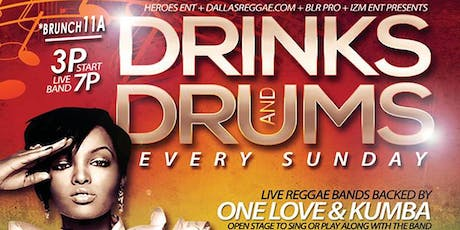 DRINKS & DRUMS \ FREE EVERY SUNDAY tickets