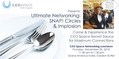 CEO Space - Utah Chapter December Networking Luncheon