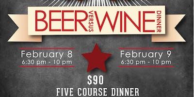 Beer vs. Wine Dinner