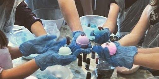 Bath Bomb Workshop with Waffles and Ice Cream Adi's Dessert Bar, Bridgend