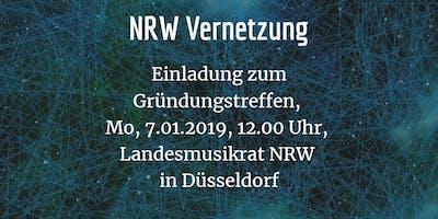 NRW Vernetzung Einladung zum Gründungstreffen,  Mo, 7.01.2019, 12.00 Uhr,