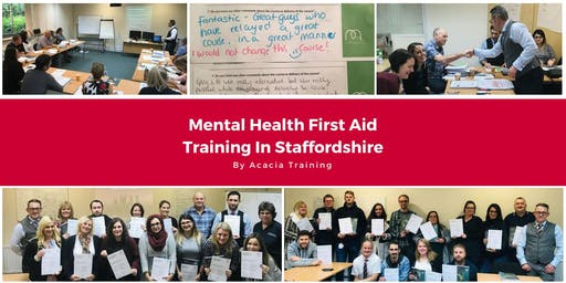 Mental Health First Aid Training - Staffordshire, UK (Adult)