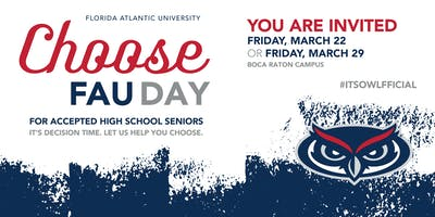 Choose FAU Day 2019- Admitted Student Event