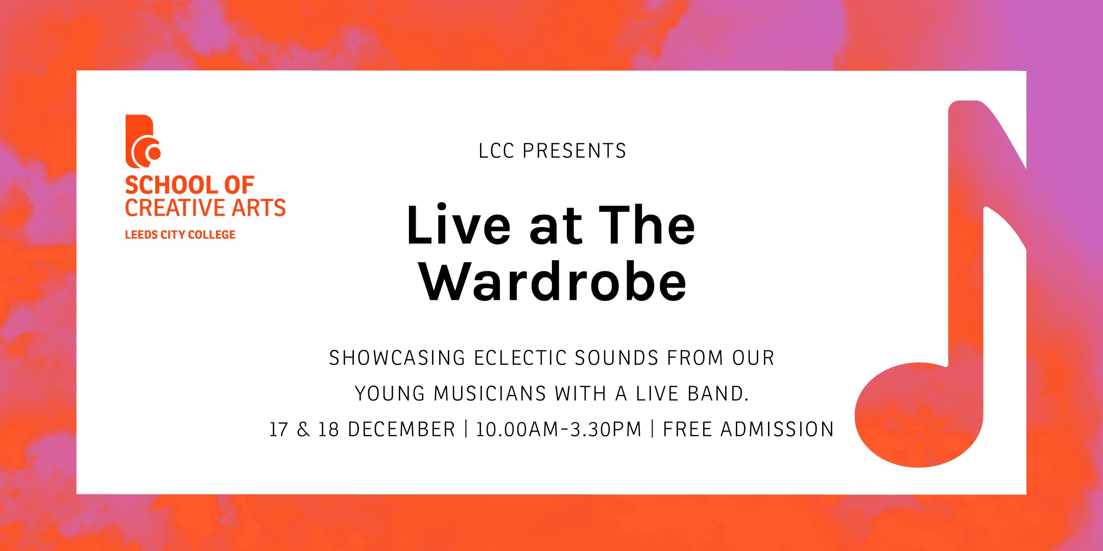 Live at The Wardrobe 17 & 18 Dec