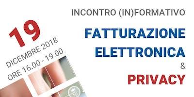 """CONVEGNO (IN) FORMATIVO """"FATTURAZIONE ELETTRONICA & PRIVACY GDPR"""""""