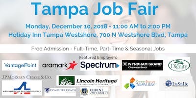 Tampa Career Fair December 10 2018 Job Fairs Hiring Events In Tam