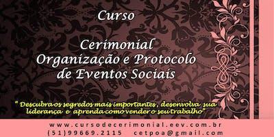 Curso de Cerimonial e Organização de Eventos