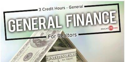 General Finance For Realtors 3CE General