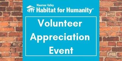 Maumee Valley Habitat for Humanity Volunteer Appreciation Event