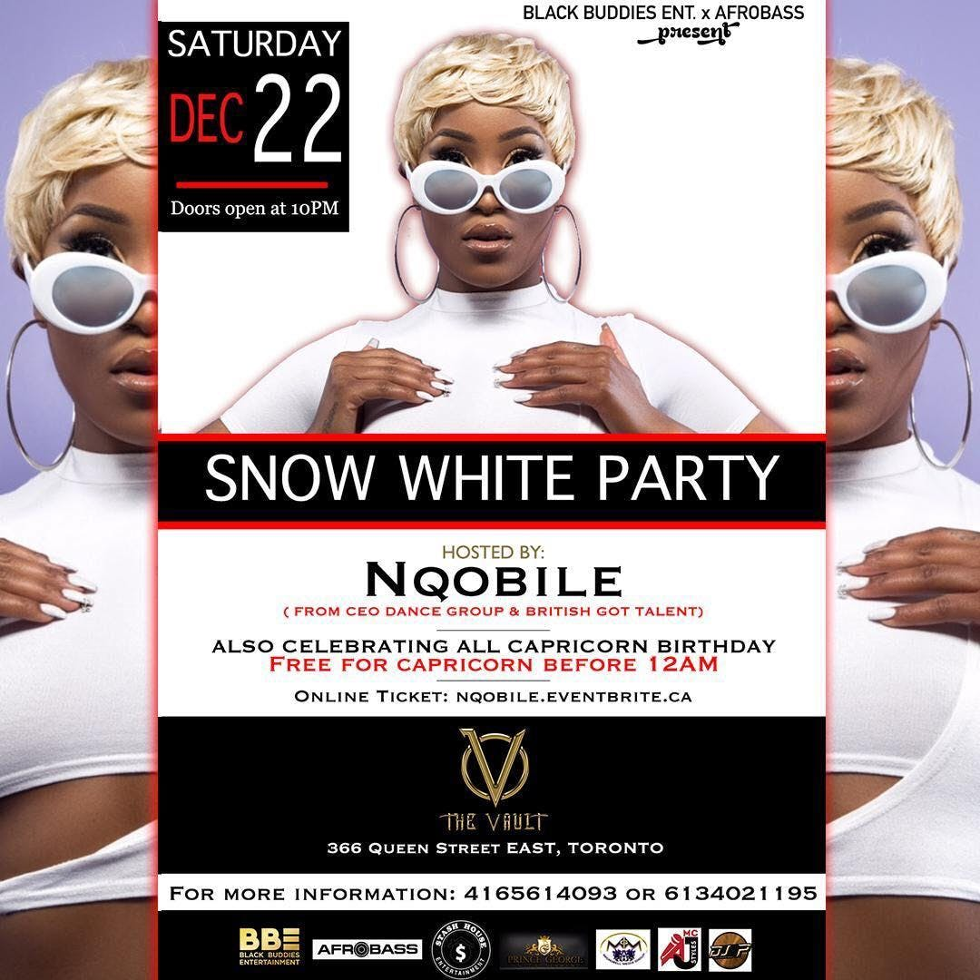 SNOW WHITE PARTY HOSTED BY NQOBILE FROM C.E.O