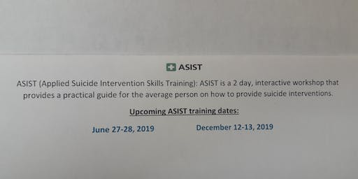 ASIST TRAINING (Western Tidewater CSB) (NO LONGER PROVIDER THIS TRAINING CANCELLED)