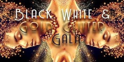 Black White & Gold Glitter Gala