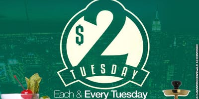 $2 TUESDAYS   • $2 WINGS • $2 RUM PUNCH • $2 COCOLOSO • $5 HENNESSY SHOTS B4 10PM • OLD SCHOOL • REGGAE • AFROBEATS • SOCA • HIP-HOP •