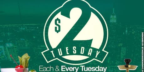 $2 TUESDAYS  •  $2 RUM PUNCH • $2 COCOLOSO • $5 HENNESSY SHOTS BEFORE 8PM• OLD SCHOOL • REGGAE • AFROBEATS • SOCA • HIP-HOP • tickets