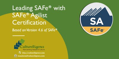 Leading SAFe with SAFe Agilist (SA) Certification   Jan 26-27, 2019   Manchester, NH