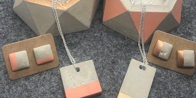 Concrete Heaven - Make gorgeous concrete jewellery and geometric plant pots
