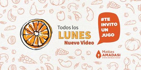 Clase semanal de Jugos y Batidos (#TeInvitoUnJugo 2da temporada) entradas