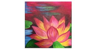 Lotus Flower | Paint 'n Sip | $20