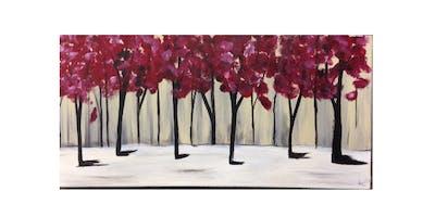Red Trees | Paint 'n Sip | $20