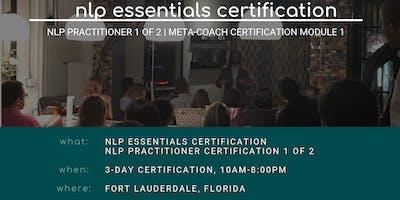 NLP Essentials Certification: NLP Practitioner Part 1 of 2