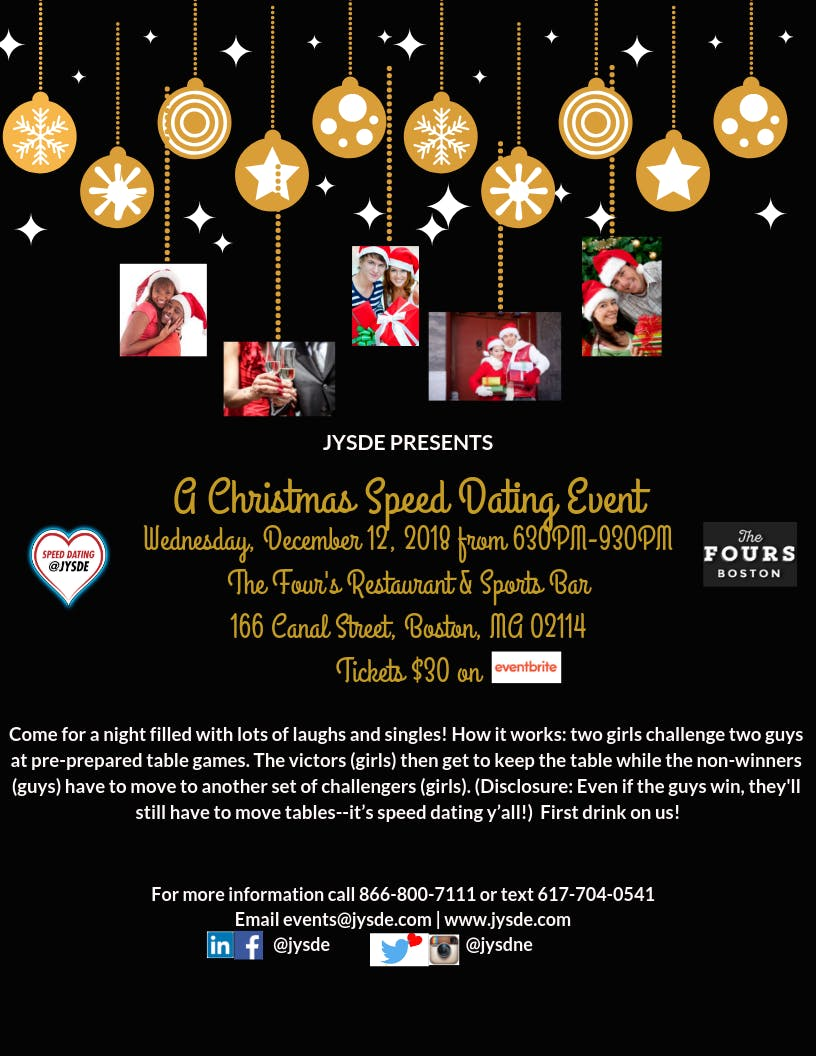 12/12 Christmas Speed Dating | #single #speed
