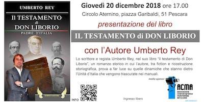 """A Pescara la presentazione del libro """"il testamento di Don Liborio"""""""