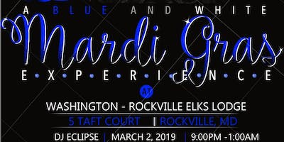 A Blue and White Mardi Gras experience