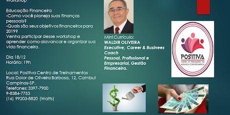 Workshop Educação Financeira ingressos