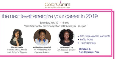 ColorComm Houston Presents The Next Level: Energize Your Career in 2019