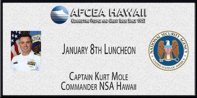 Captain Kurt Mole - Commander NSA Hawaii - January 8th Luncheon