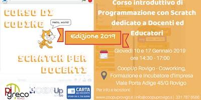 Corso di coding con Scratch per docenti ed educatori_Gennaio 2019
