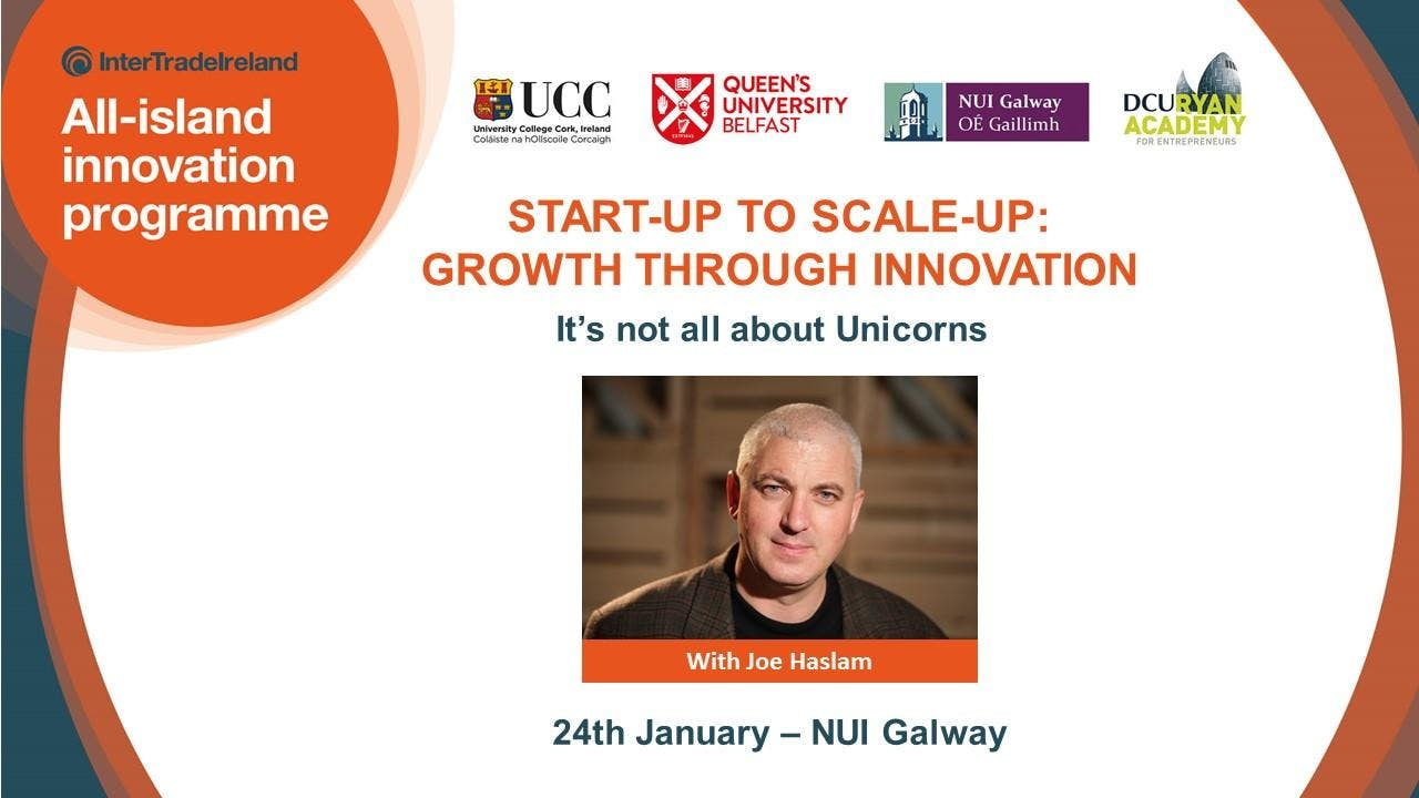 AIIP Lecture & Masterclass - Start-up to Scale-up: Growth through innovation