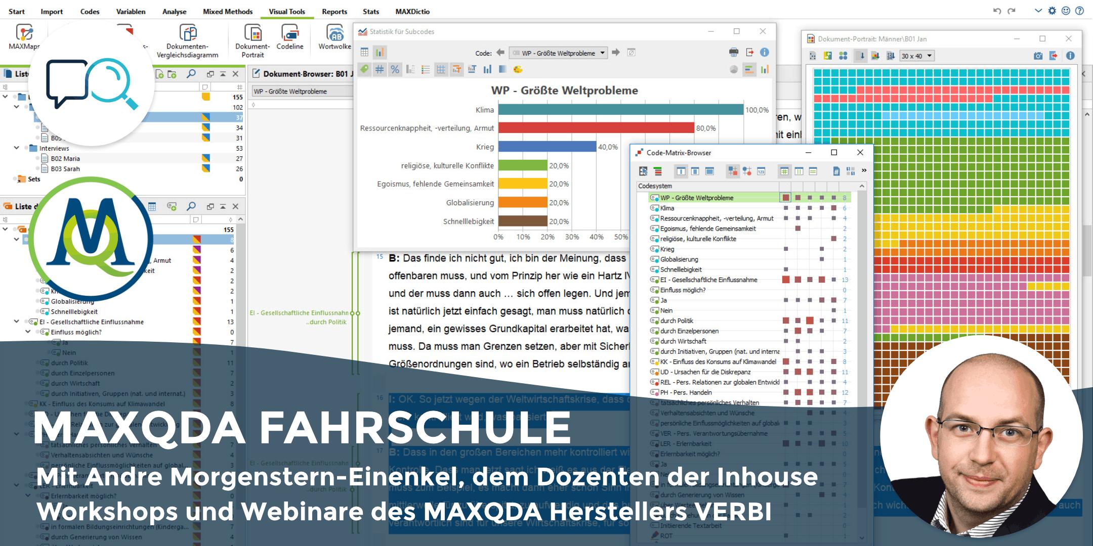 MAXQDA FAHRSCHULE - Live-Onlinetraining für Kleingruppe an 8 Abenden (Jan-Feb '19)