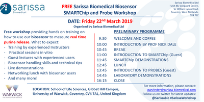 Application to attend - FREE Sarissa Biomedical Biosensor  Workshop