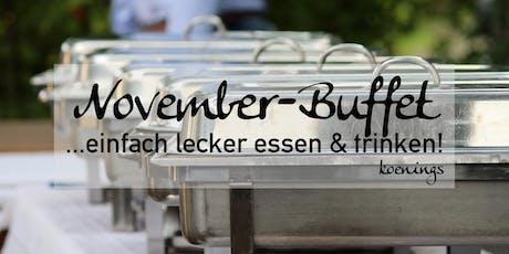 November-Buffet - ...einfach lecker essen & trinken! Tickets