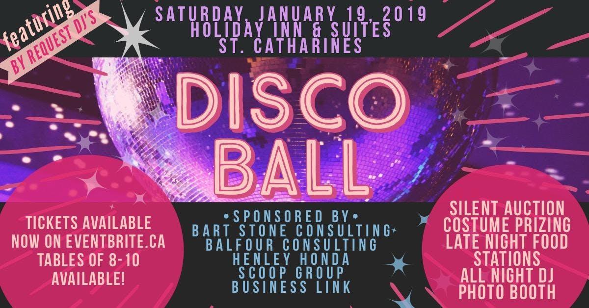 2019 Disco Ball supporting Niagara Sexual Assault Centre