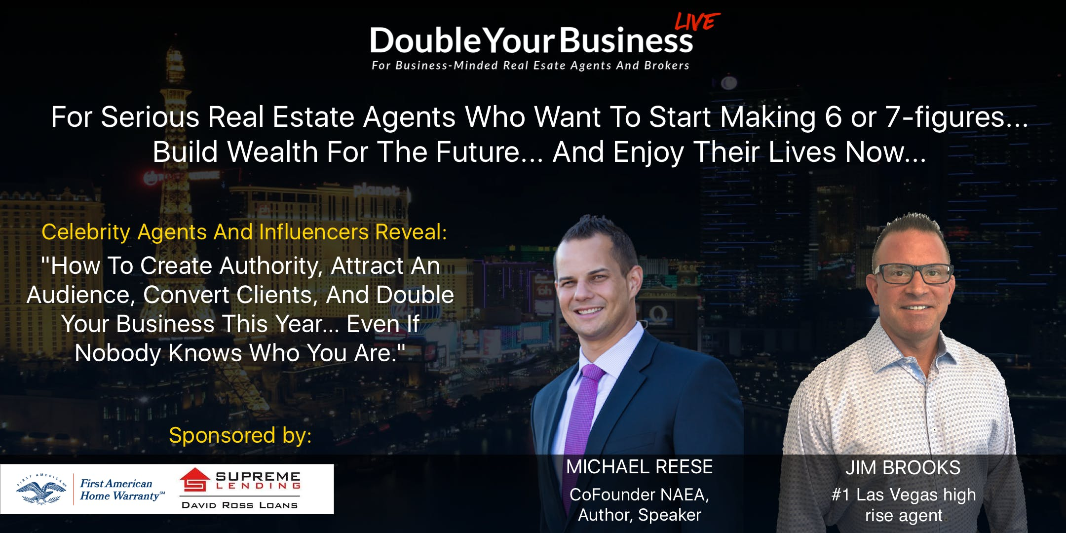 Double Your Real Estate Business Luncheon Las